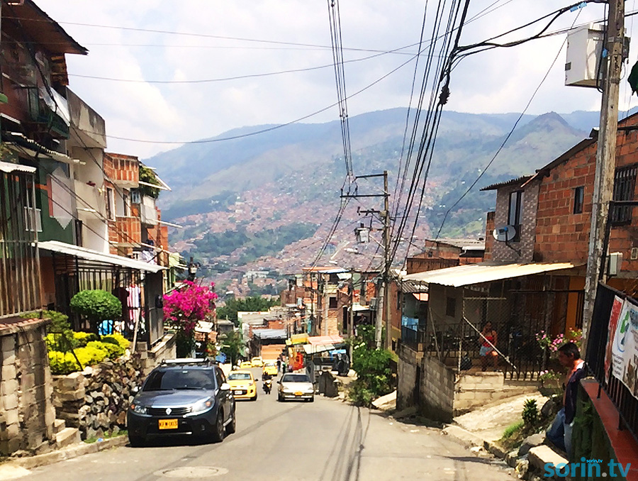 Pablo Escobar neighbourhood in medellin
