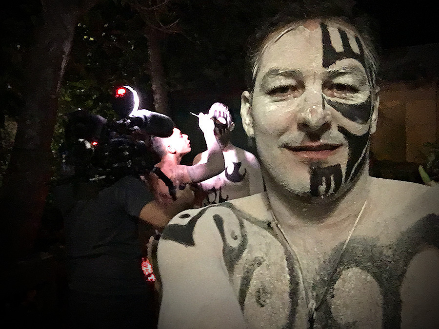 body painting in easter island