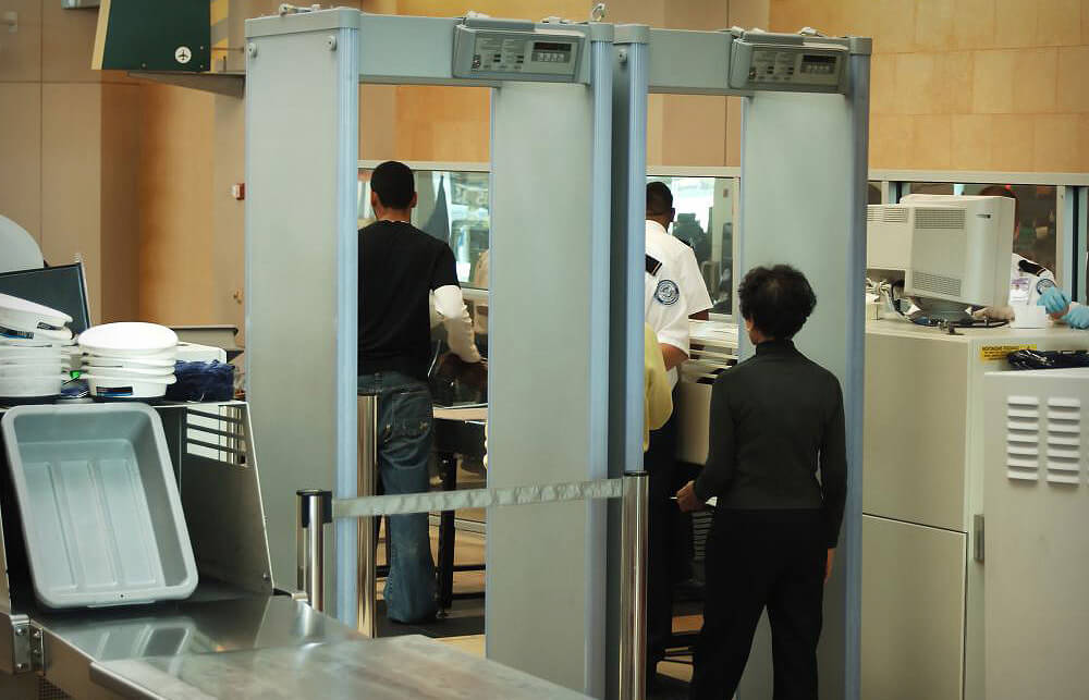 airport security travel metal detector