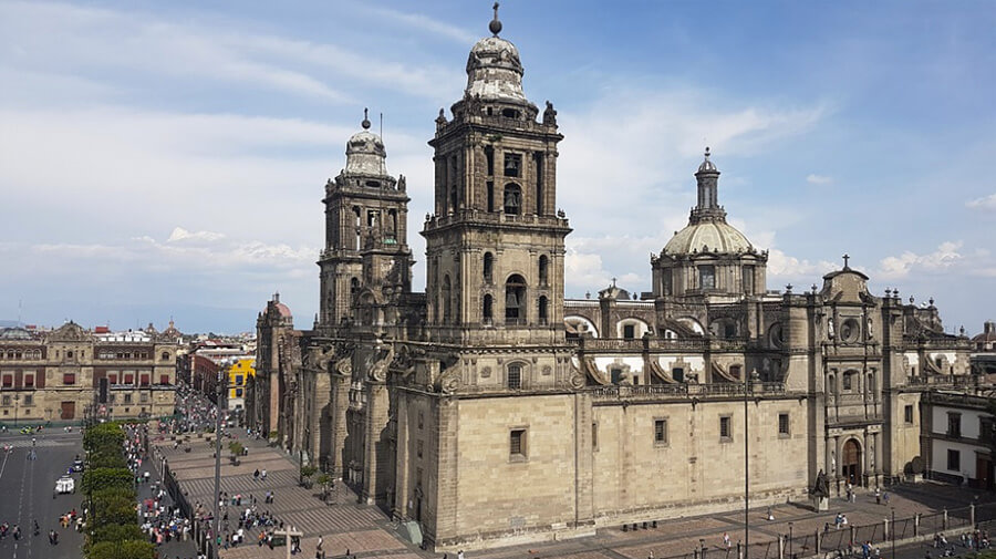 mexico city downtown cathedral