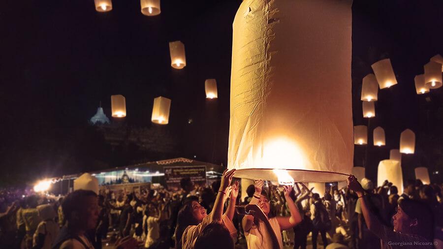 Borobudur Waisak festival Lanterns