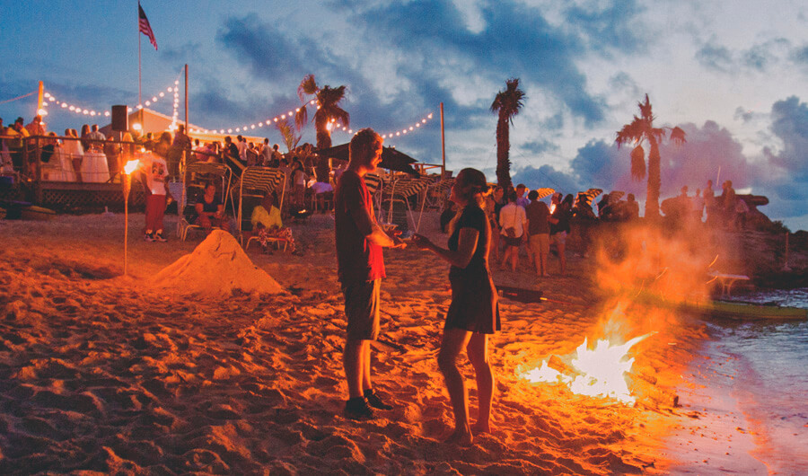 bonfire party on tobacco bay bermuda