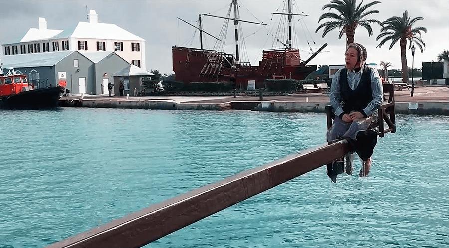 dunk a woman bermuda reenactment