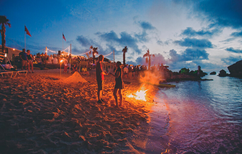 beach fire party